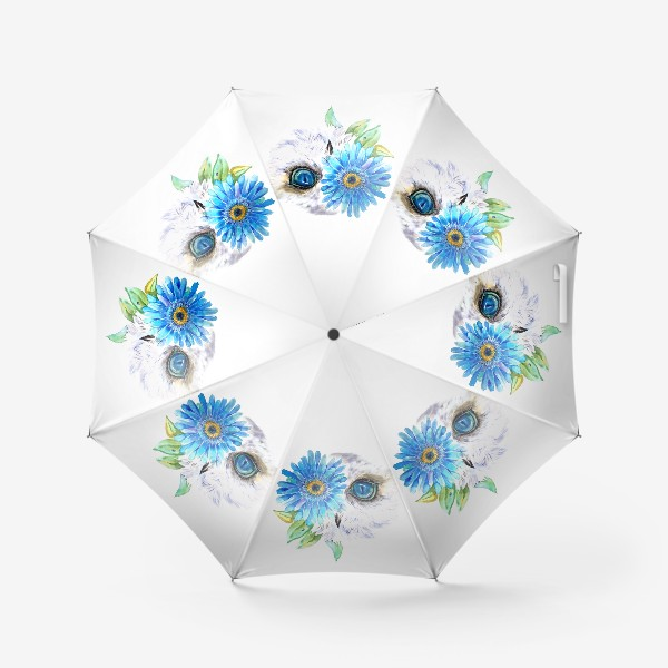 Зонт «сова и цветок»
