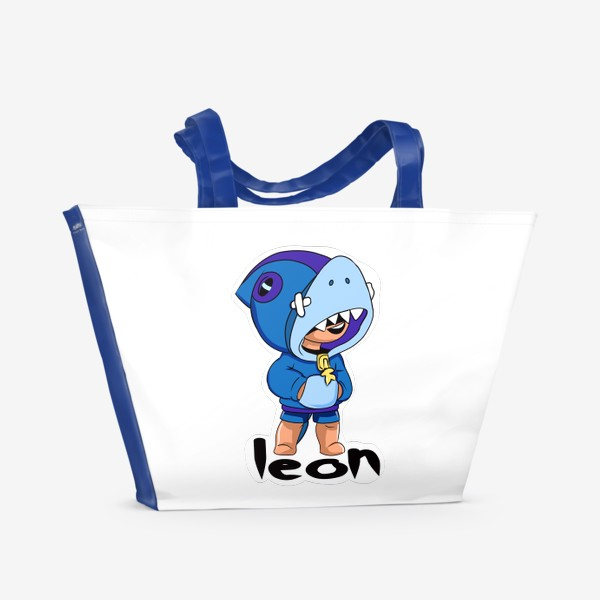 Пляжная сумка «Brawl Stars. Leon Shark»