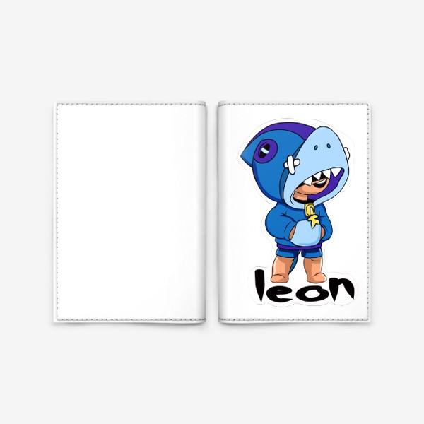 Обложка для паспорта «Brawl Stars. Leon Shark»