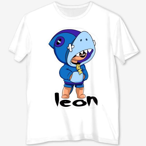 Футболка с полной запечаткой «Brawl Stars. Leon Shark»