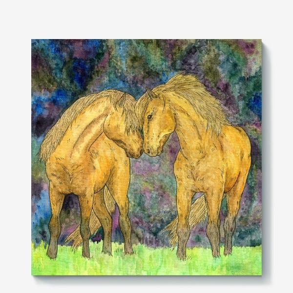 Холст «Две лошади»