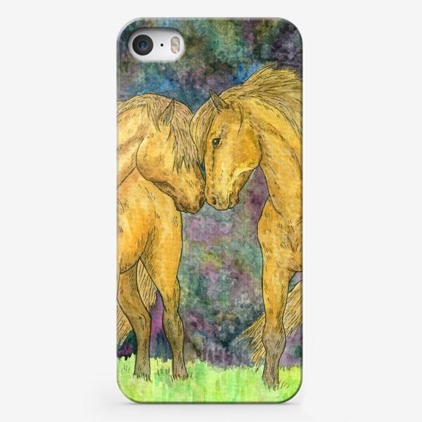 Чехол iPhone «Две лошади»