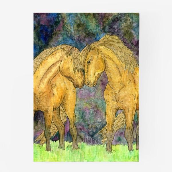 Постер «Две лошади»
