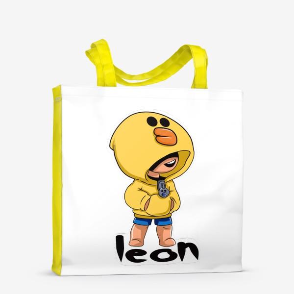 Сумка-шоппер «Brawl Stars. Leon. Duck»