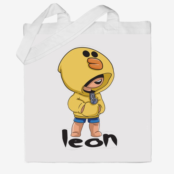 Сумка хб «Brawl Stars. Leon. Duck»