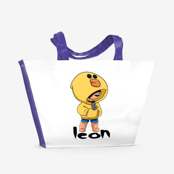 Пляжная сумка «Brawl Stars. Leon. Duck»
