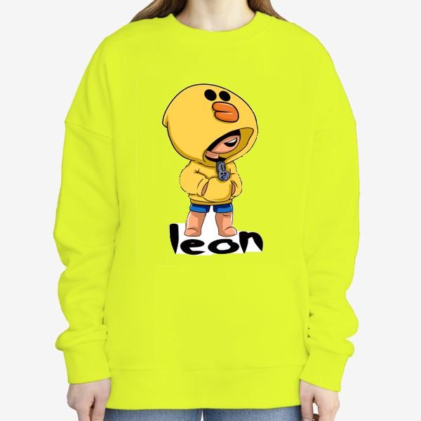 Свитшот «Brawl Stars. Leon. Duck»
