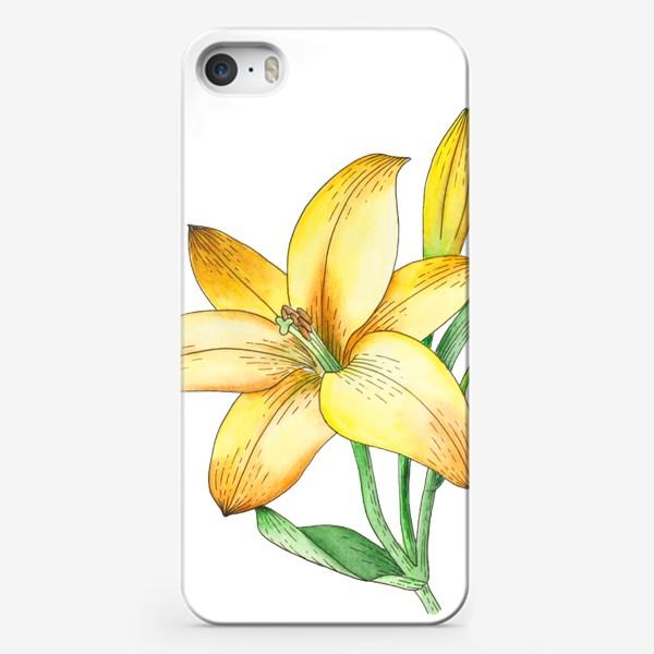 Чехол iPhone «Желтый лилейник»