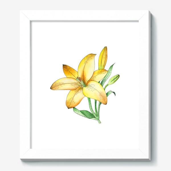 Картина «Желтый лилейник»