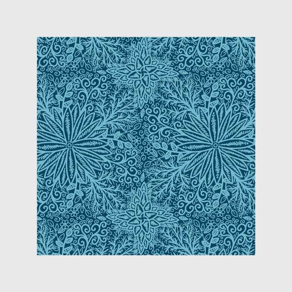 Шторы «Голубые растения»