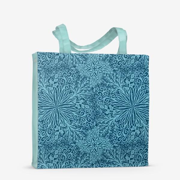 Сумка-шоппер «Голубые растения»