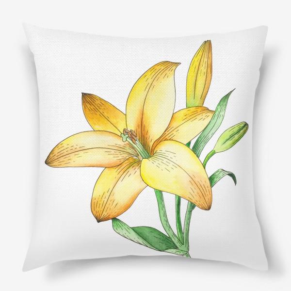 Подушка «Желтый лилейник»