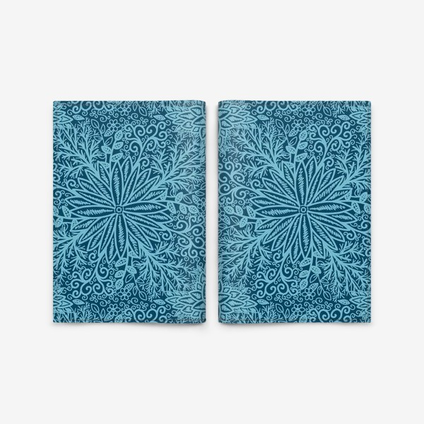 Обложка для паспорта «Голубые растения»