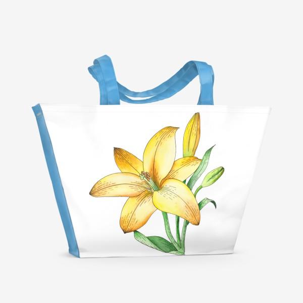 Пляжная сумка «Желтый лилейник»