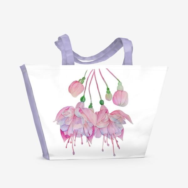 Пляжная сумка «Фуксия »