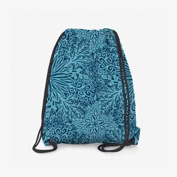 Рюкзак «Голубые растения»