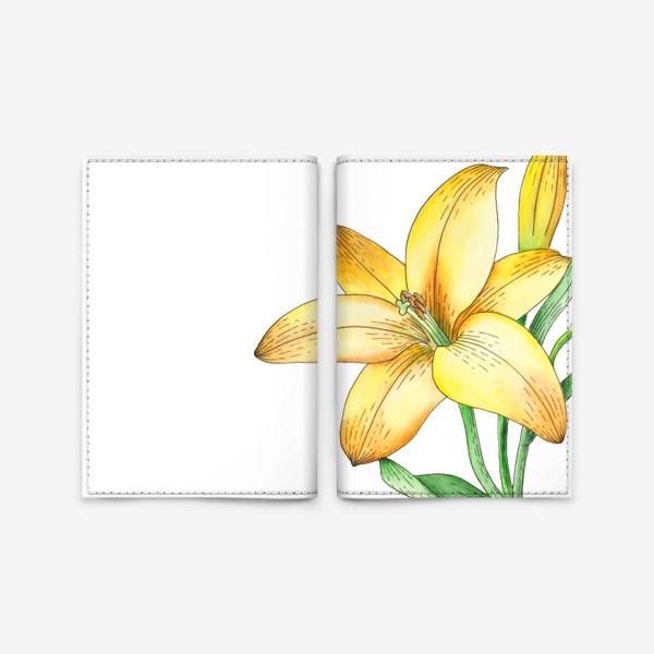 Обложка для паспорта «Желтый лилейник»