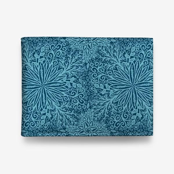 Кошелек «Голубые растения»