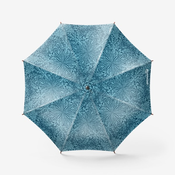 Зонт «Голубые растения»