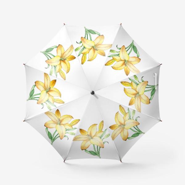 Зонт «Желтый лилейник»