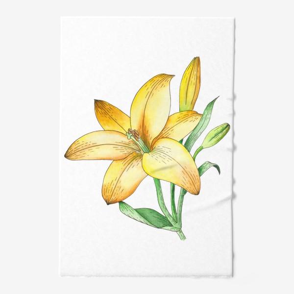 Полотенце «Желтый лилейник»