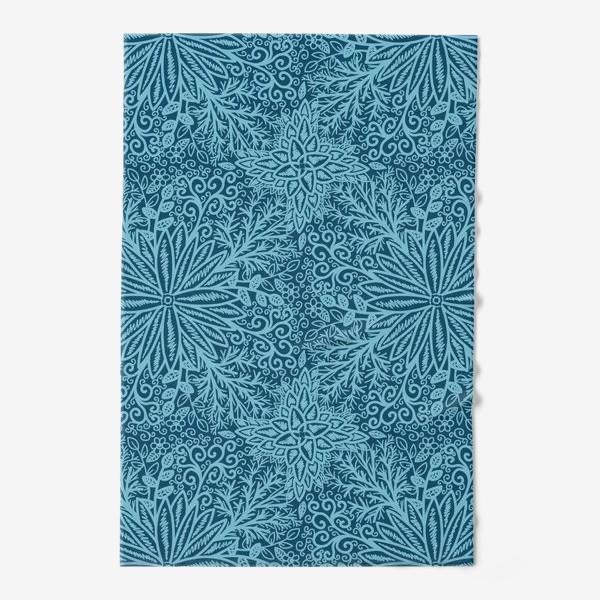 Полотенце «Голубые растения»