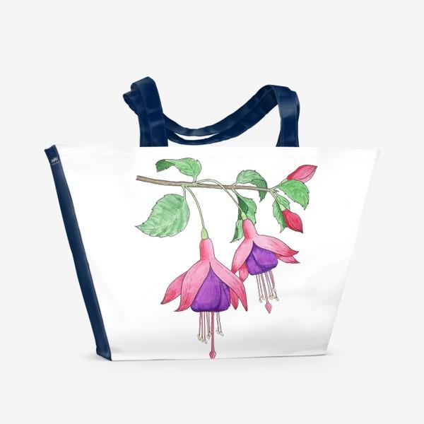 Пляжная сумка «Ветка фуксии»