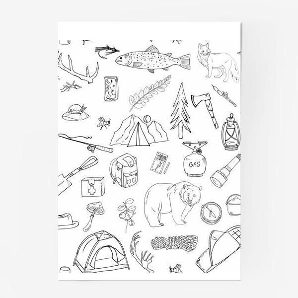 Постер «походная жизнь, туризм»
