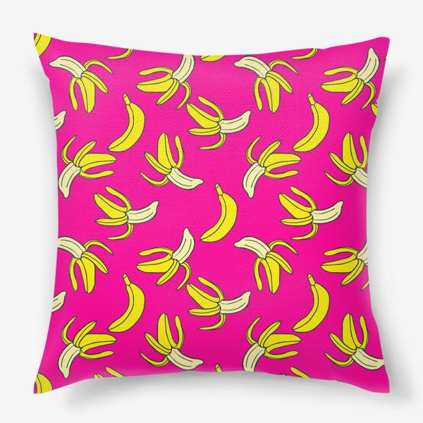 Подушка «Банановый паттерн»