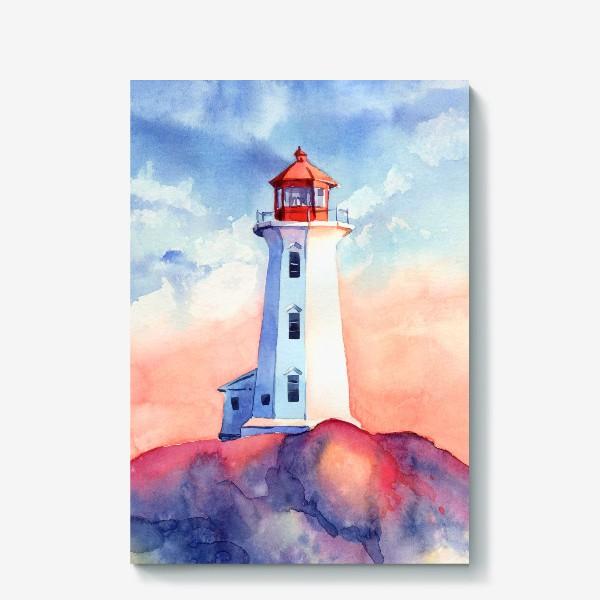 Холст «Акварельный маяк»
