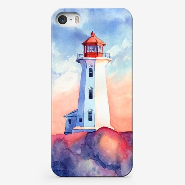 Чехол iPhone «Акварельный маяк»