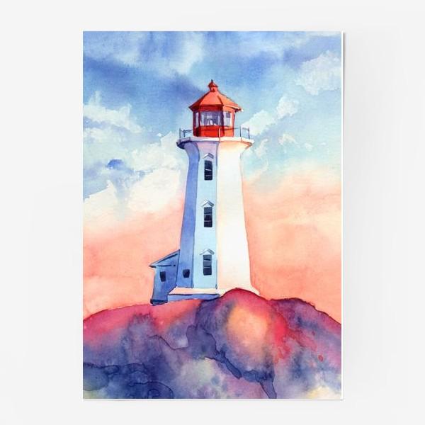 Постер «Акварельный маяк»