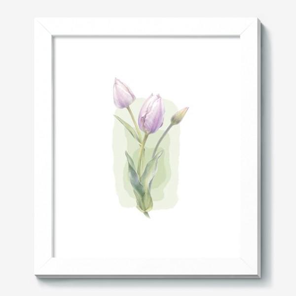 Картина «Светло-сиреневые тюльпаны Букет 1»