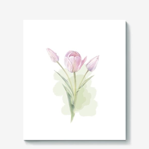 Холст «Светло-сиреневые тюльпаны Букет 2»
