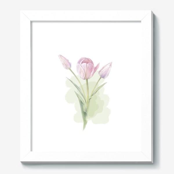 Картина «Светло-сиреневые тюльпаны Букет 2»