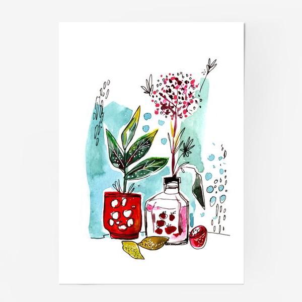 Постер «Акварельный натюрморт»