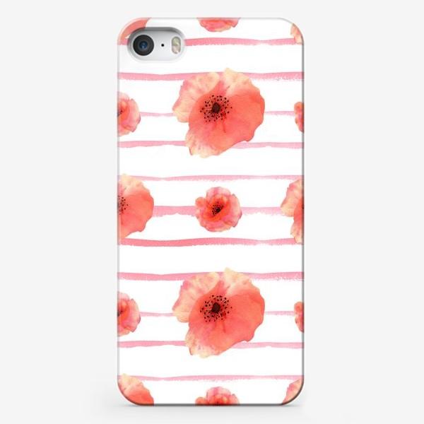 Чехол iPhone «Маки с полосами»