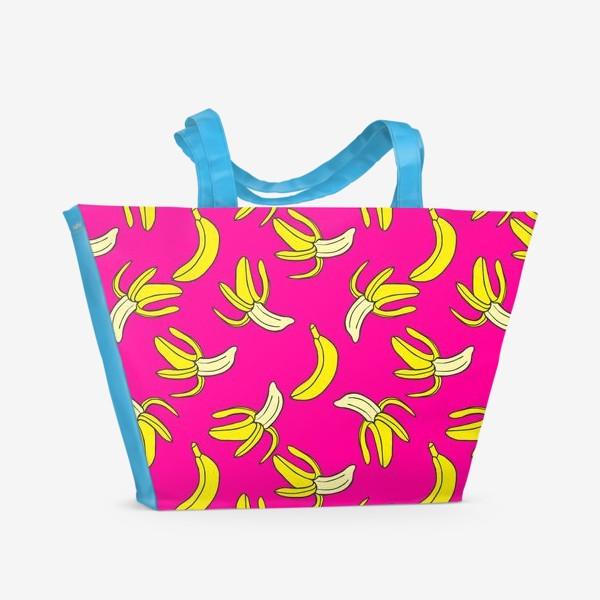 Пляжная сумка «Банановый паттерн»