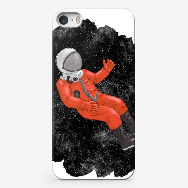 Чехол iPhone «Космонавт в открытом космосе»