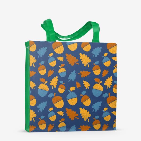 Сумка-шоппер «Желуди на синем»