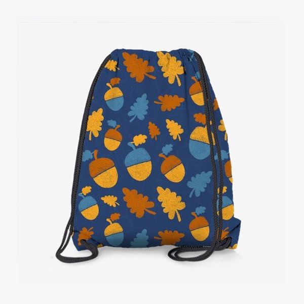 Рюкзак «Желуди на синем»