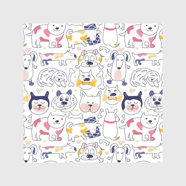 Шторы «Собаки line art»