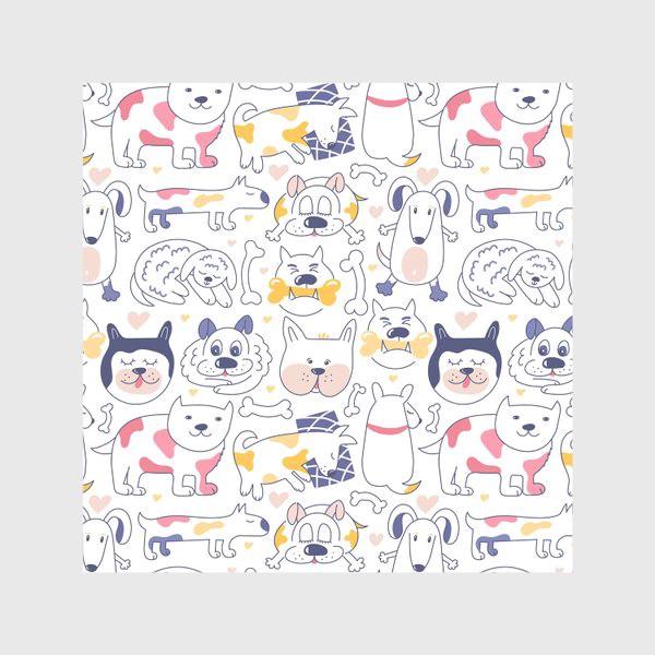 Скатерть «Собаки line art»
