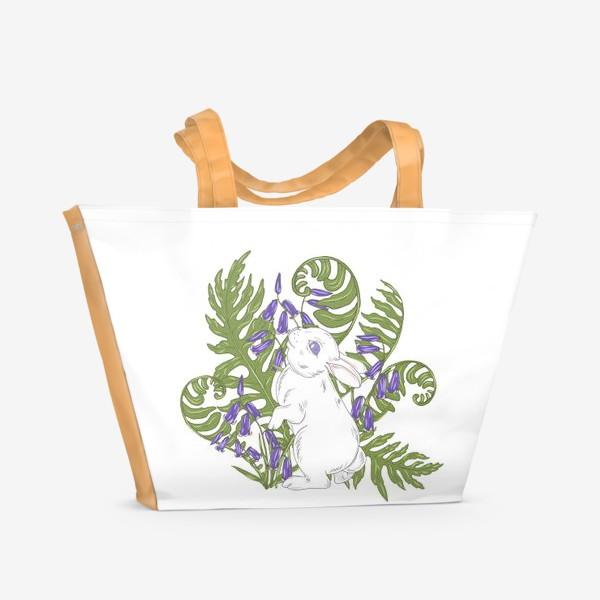 Пляжная сумка «кролик весной»