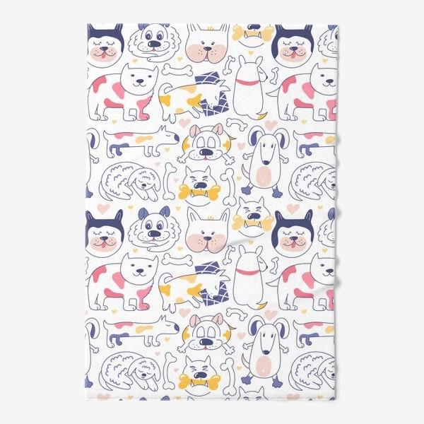 Полотенце «Собаки line art»