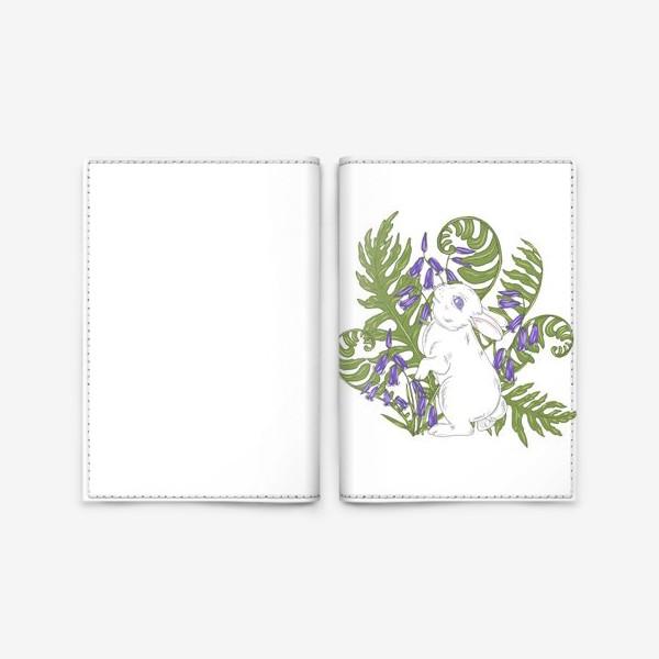 Обложка для паспорта «кролик весной»