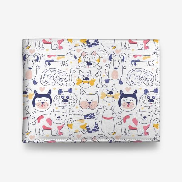 Кошелек «Собаки line art»