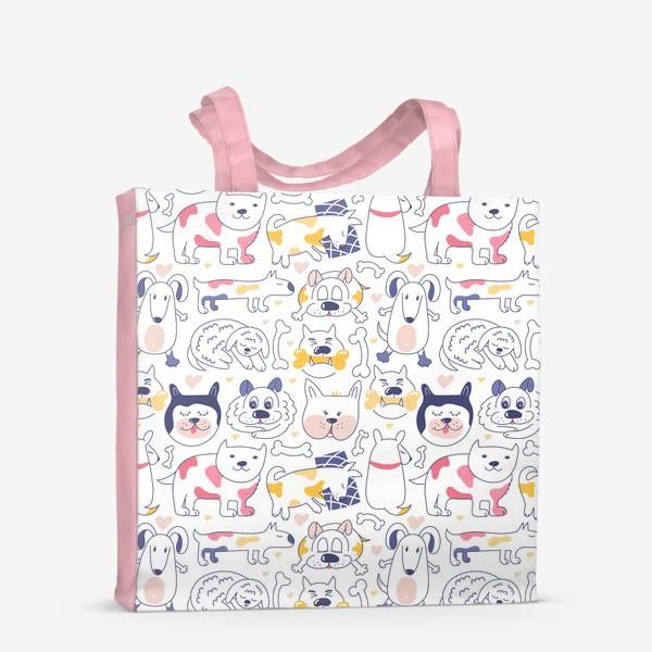 Сумка-шоппер «Собаки line art»