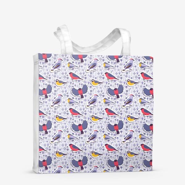 Сумка-шоппер «Зимние птицы»
