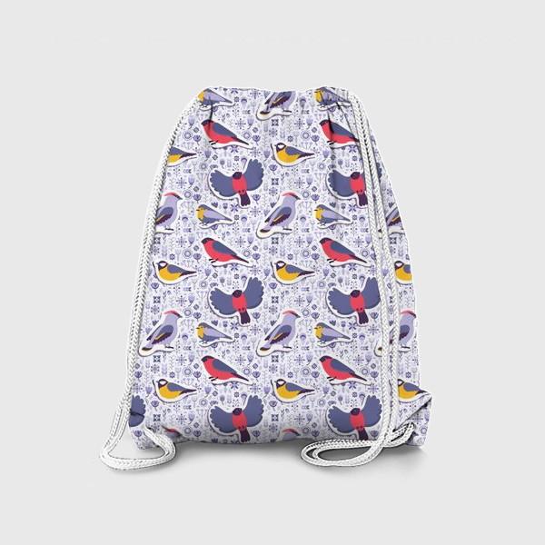 Рюкзак «Зимние птицы»